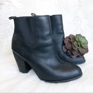 Women's Lucky Brand Parlei Leather Black Boots